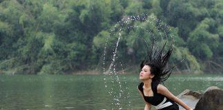 kobieta, woda