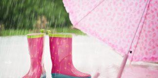 deszcz, kalosze