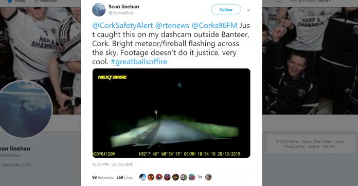 Meteoryt w Cork