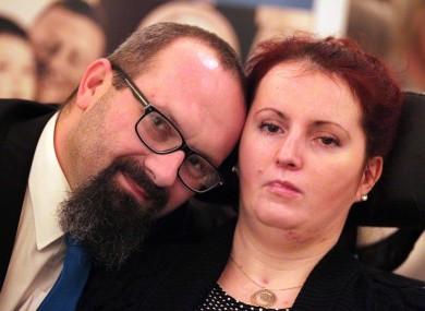 Marcin Filak z żoną
